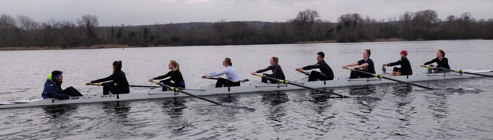 Row in VIIIs with the University of Kent Rowing Club