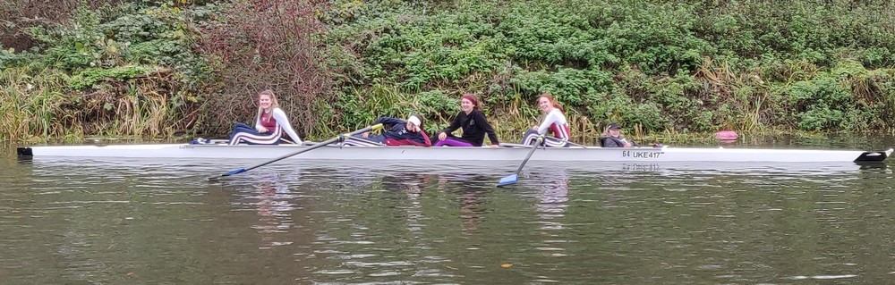 Racing with University of Kent Rowing Club